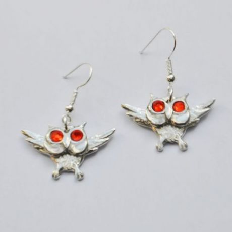 3D Owl earrings E106